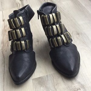Black buckle booties size 6.5